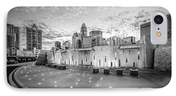 Charlotte Nc Skyline Black And White Photo IPhone Case by Paul Velgos
