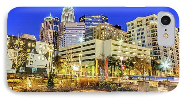 Charlotte North Carolina At Night Panorama Photo IPhone Case by Paul Velgos
