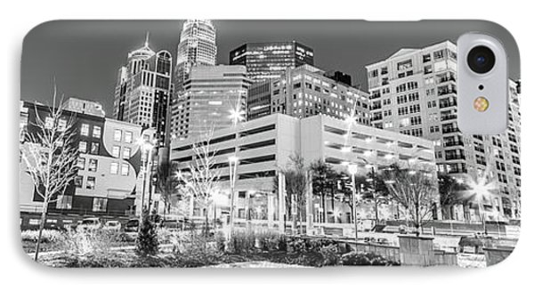 Charlotte Panorama Black And White Image IPhone Case by Paul Velgos
