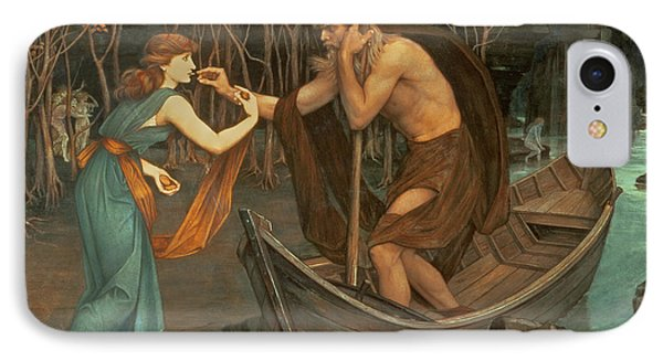 Charon And Psyche IPhone Case by John Roddam Spencer Stanhope