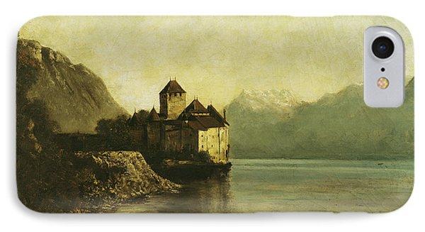 Chateau De Chillon IPhone Case by Gustave Courbet