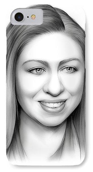 Chelsea Clinton IPhone 7 Case by Greg Joens