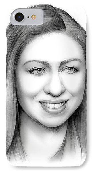 Chelsea Clinton IPhone Case by Greg Joens