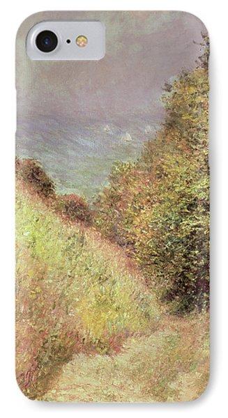 Chemin De La Cavee Pourville Phone Case by Claude Monet