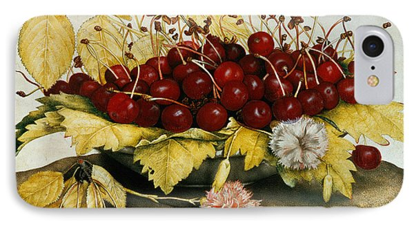 Cherries And Carnations Phone Case by Giovanna Garzoni