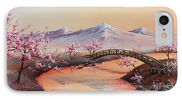 Cherry Blossoms In The Mist - Revisited IPhone Case by Joe Mandrick