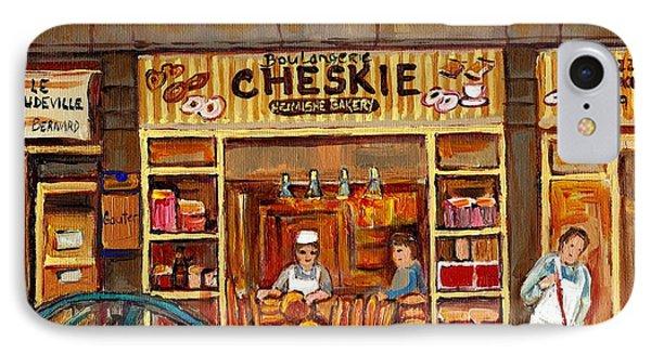 Cheskies Hamishe Bakery Phone Case by Carole Spandau
