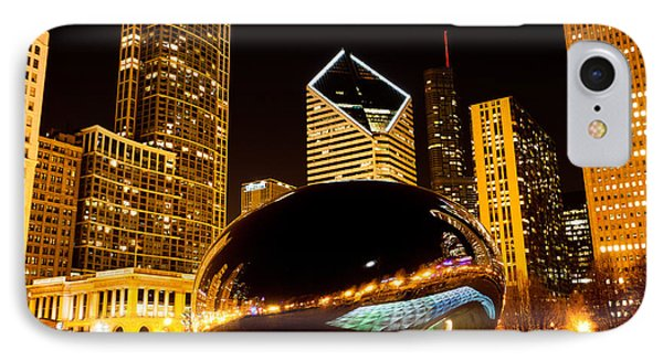 Chicago Bean Cloud Gate At Night IPhone Case by Paul Velgos