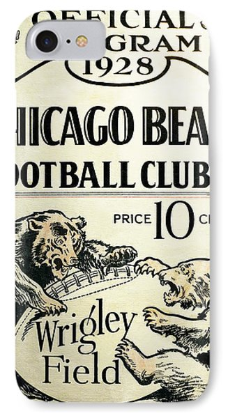 Chicago Bears Football Club Program Cover 1928 IPhone 7 Case by Daniel Hagerman