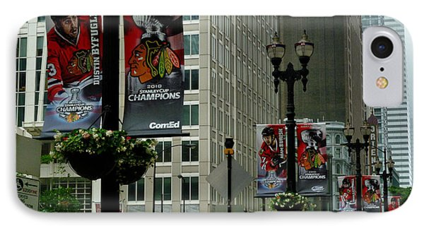 Chicago Blackhawk Flags Phone Case by Ely Arsha
