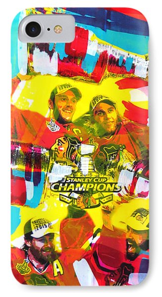 Chicago Blackhawks 2015 Champions IPhone Case by Elliott From