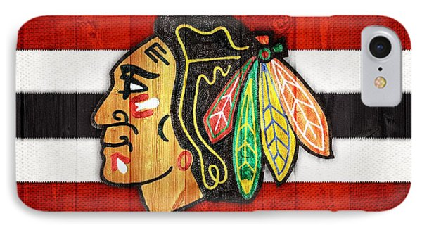 Chicago Blackhawks Barn Door IPhone 7 Case by Dan Sproul