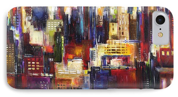Chicago City View IPhone Case by Kathleen Patrick