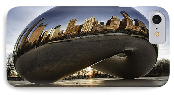 Chicago Cloud Gate At Sunrise IPhone Case by Sebastian Musial