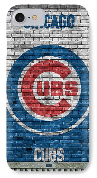 Chicago Cubs Brick Wall IPhone 7 Case by Joe Hamilton