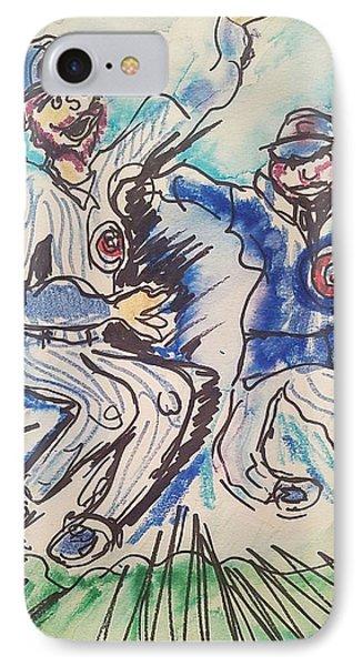 Chicago Cubs IPhone Case by Geraldine Myszenski