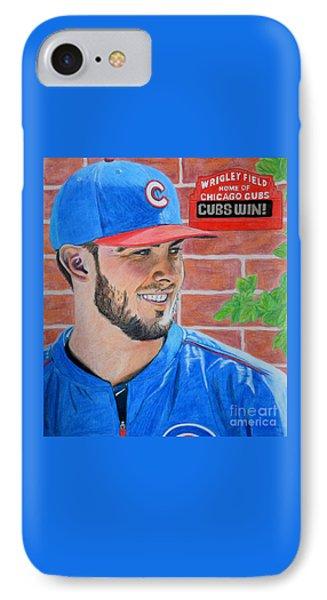 Chicago Cubs Kris Bryant Portrait IPhone Case by Melissa Goodrich