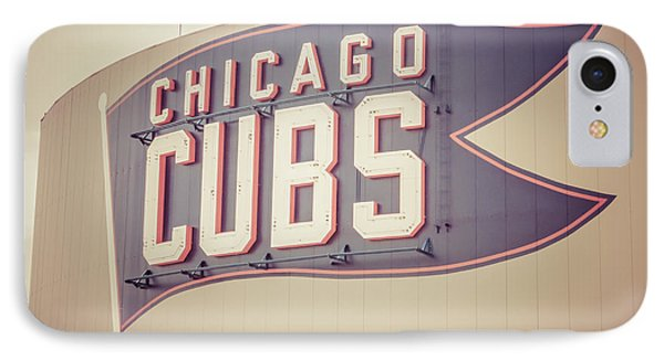 Chicago Cubs Sign Vintage Picture IPhone Case by Paul Velgos