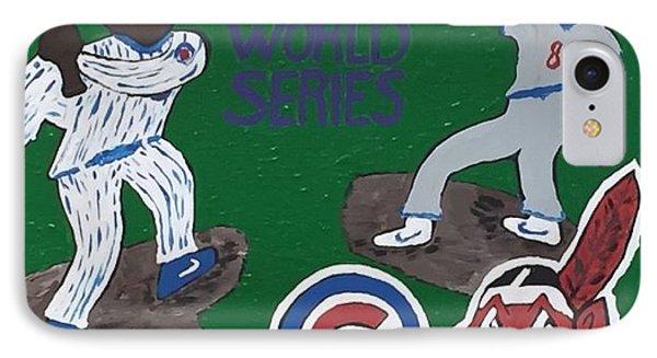 Chicago Cubs Versus The Cleveland Indians World Series. IPhone Case by Jonathon Hansen