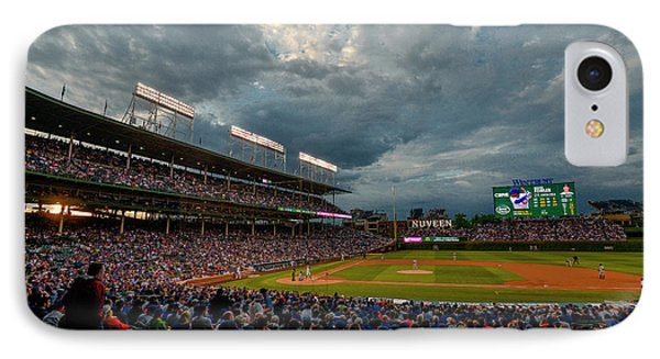 Chicago Cubs Wrigley Field 2 8287 IPhone Case by David Haskett