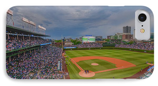 Chicago Cubs Wrigley Field 5 8228 IPhone Case by David Haskett
