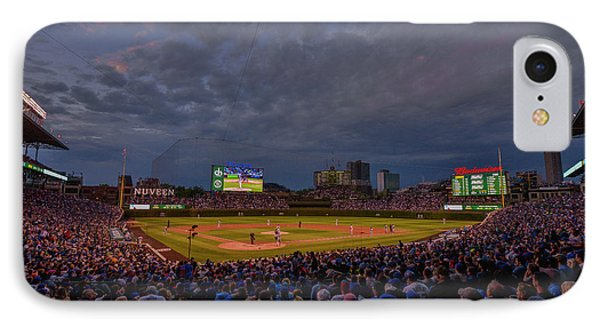 Chicago Cubs Wrigley Field 7 8321 IPhone Case by David Haskett