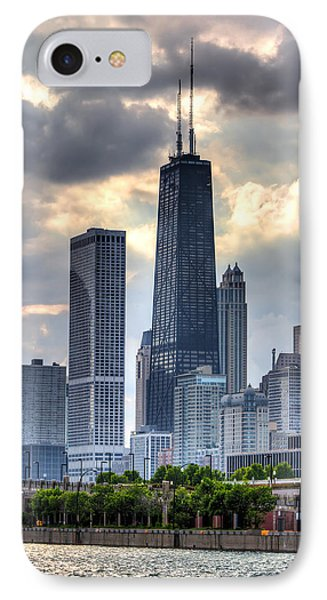 Chicago From The Pier IPhone Case by Joshua Ball