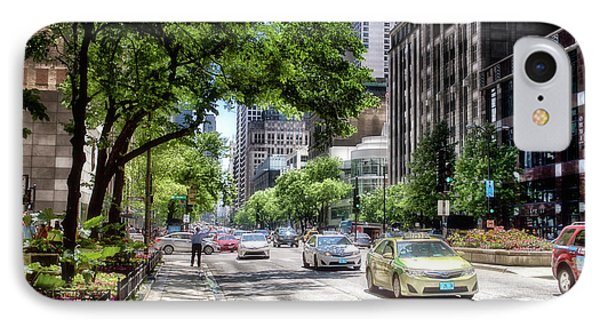 Chicago Hailing A Cab In June IPhone Case by Thomas Woolworth