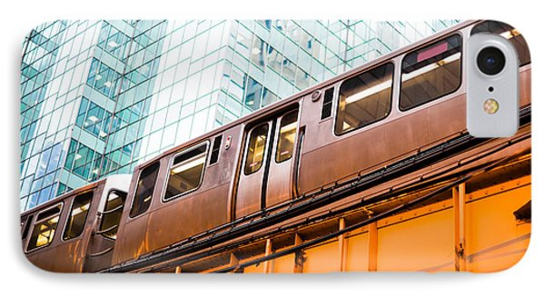 Chicago L Elevated Train  IPhone 7 Case by Paul Velgos