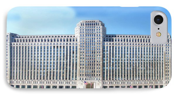 Chicago Merchandise Mart South Facade IPhone Case by Thomas Woolworth
