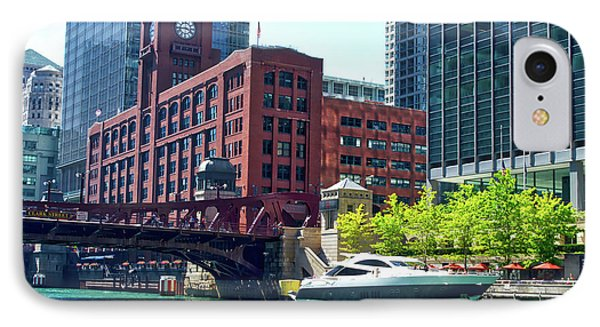 Chicago Parked By The Clark Street Bridge On The River IPhone Case by Thomas Woolworth