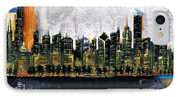 Chicago Skyline 201 3 IPhone Case by Mawra Tahreem