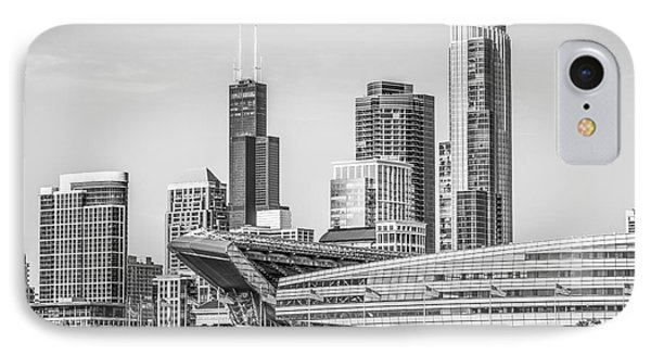 Chicago Skyline With Soldier Field And Willis Tower  IPhone 7 Case by Paul Velgos
