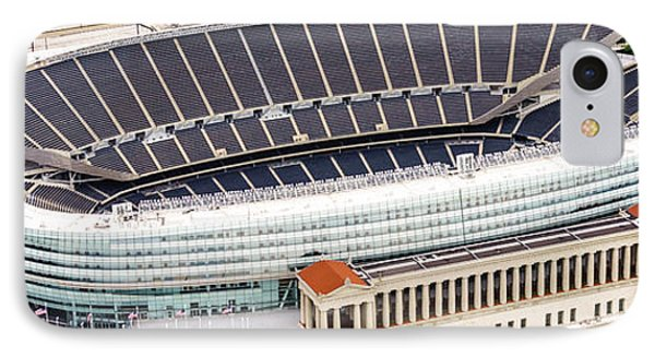 Chicago Soldier Field Aerial Photo IPhone 7 Case by Paul Velgos