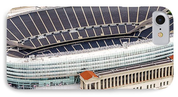 Chicago Soldier Field Aerial Photo IPhone Case by Paul Velgos