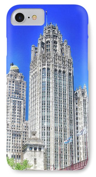 Chicago The Gothic Tribune Tower IPhone Case by Thomas Woolworth