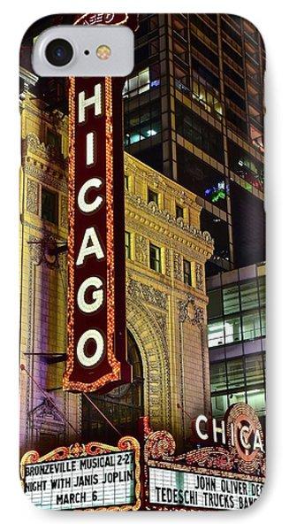 Chicago Theater Aglow IPhone 7 Case by Frozen in Time Fine Art Photography