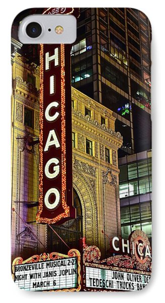 Chicago Theater Aglow IPhone Case by Frozen in Time Fine Art Photography