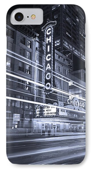 Chicago Theater Marquee B And W IPhone 7 Case by Steve Gadomski