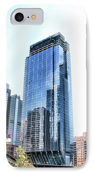 Chicago Under Construction On The River Pa IPhone Case by Thomas Woolworth