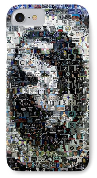 Chicago White Sox Ring Mosaic Phone Case by Paul Van Scott