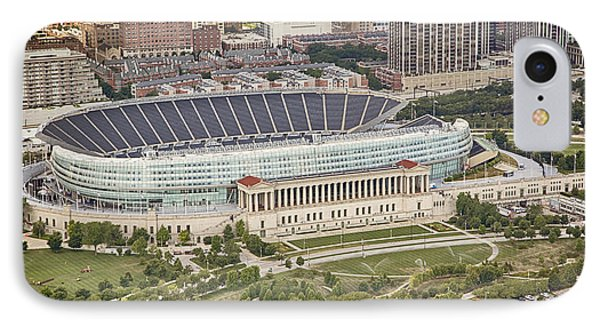 Chicago's Soldier Field Aerial IPhone Case by Adam Romanowicz