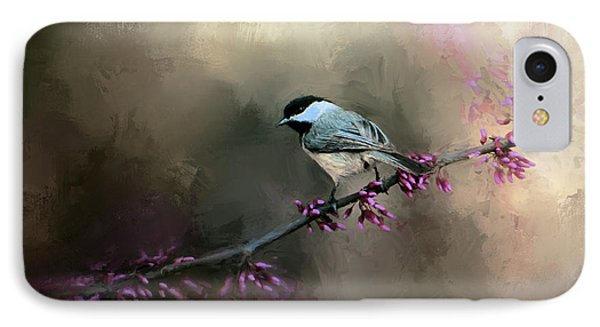 Chickadee In The Light IPhone Case by Jai Johnson
