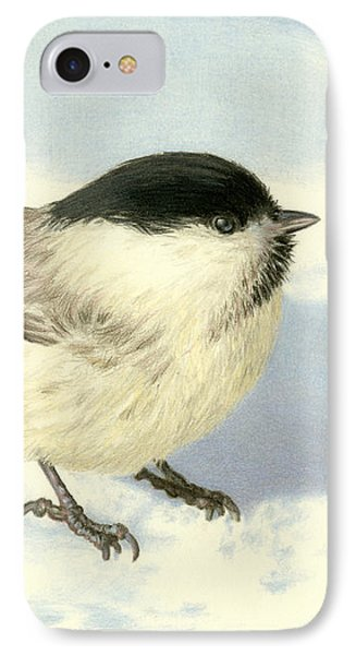 Chilly Chickadee IPhone Case by Sarah Batalka