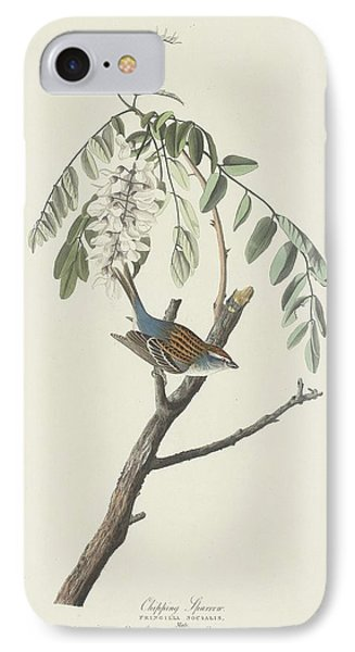 Chipping Sparrow IPhone 7 Case by John James Audubon