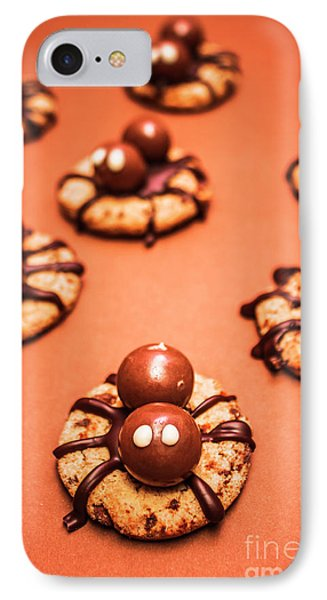 Chocolate Peanut Butter Spider Cookies IPhone 7 Case by Jorgo Photography - Wall Art Gallery