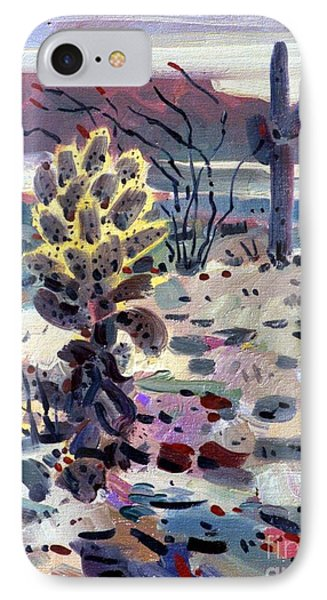 Cholla Saguargo And Ocotillo Phone Case by Donald Maier