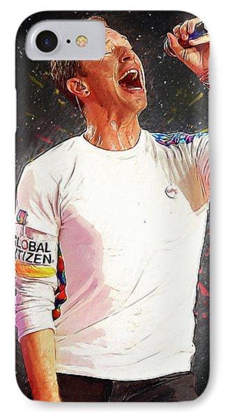 Chris Martin - Coldplay IPhone 7 Case by Semih Yurdabak