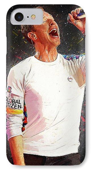 Chris Martin - Coldplay IPhone Case by Semih Yurdabak