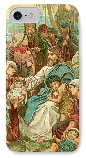 Christ Blessing Little Children IPhone Case by English School